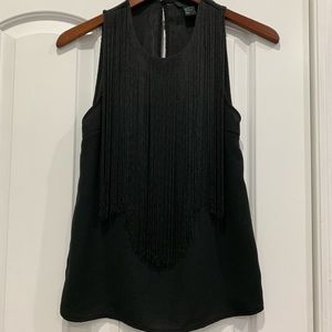 H&M Blouse with String Strands in Front Black 2